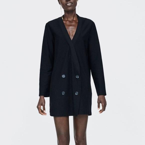 Zara Jackets & Blazers - Zara black double breasted dress